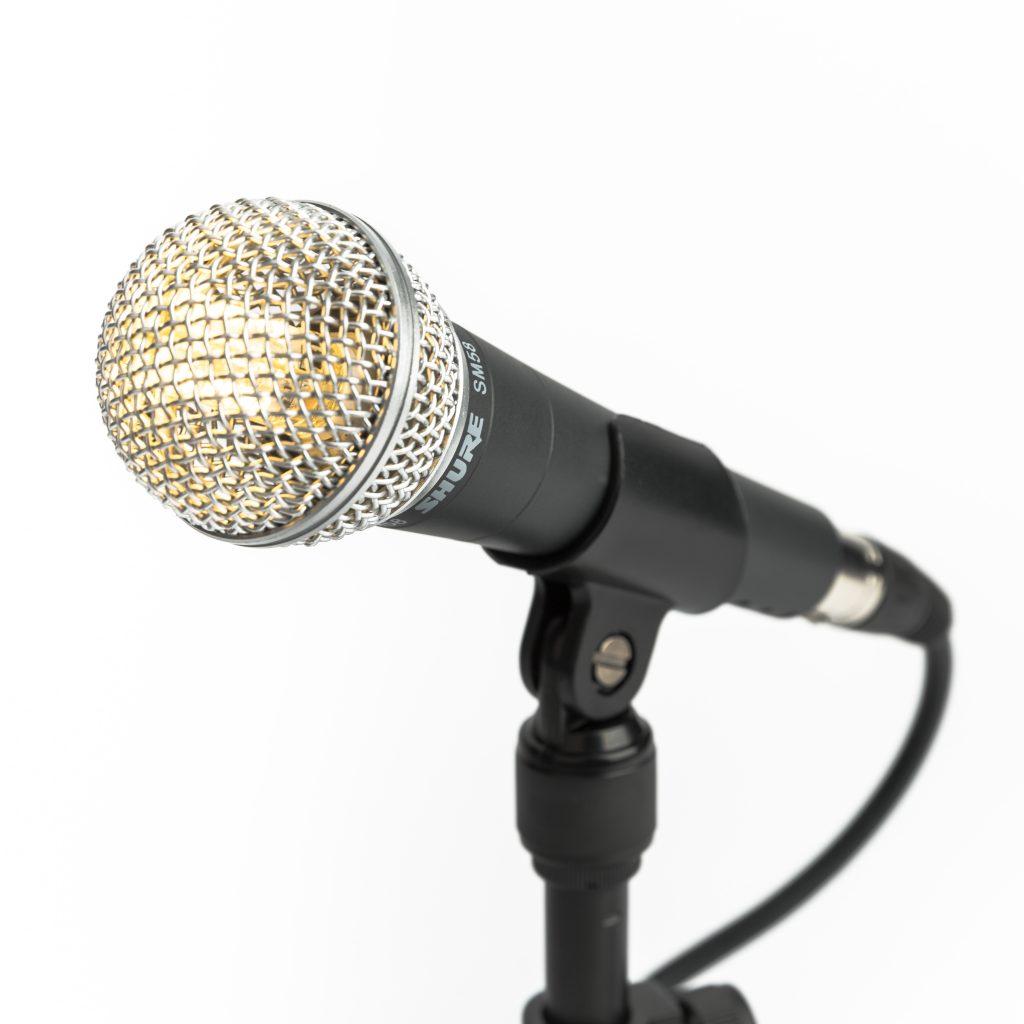Bordlampe - mikrofon