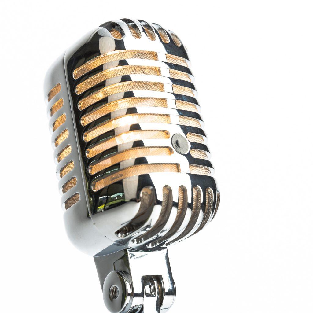 Lampe af rigtige mikrofoner!