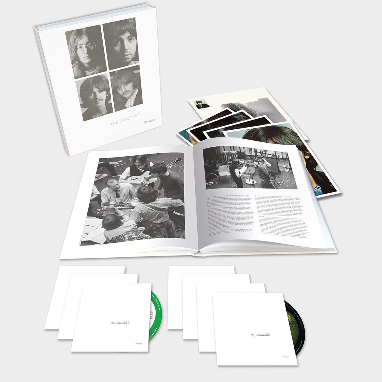 The Beatles - The White Album (50th anniversary) - bokssæt cd vinyl blu-ray bog