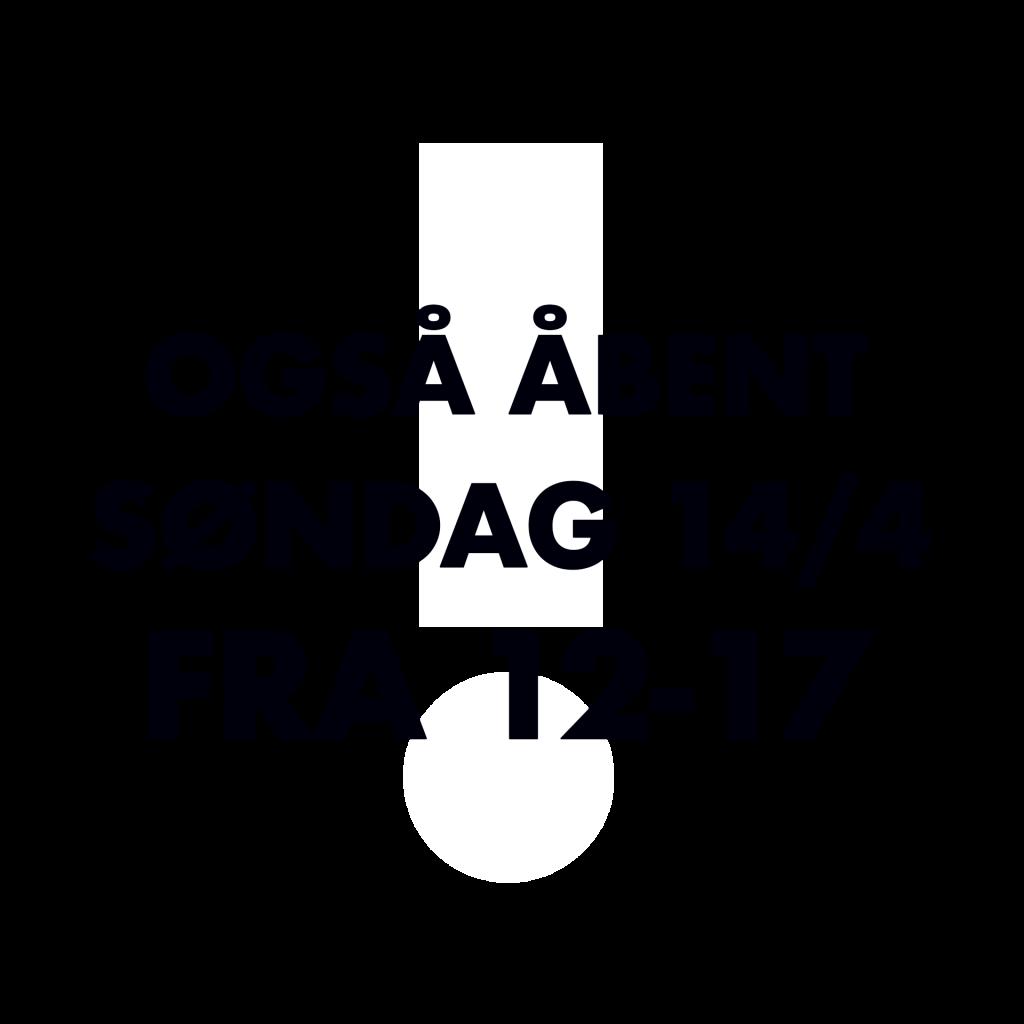 Sound - også åbent 14. april fra 12-17
